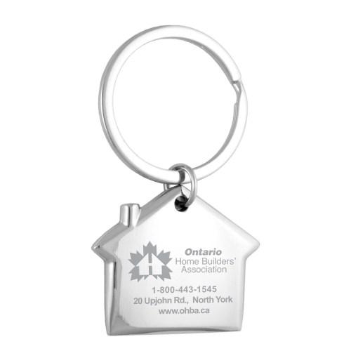 metal house shaped keychain
