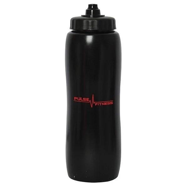 Valais Squeeze Water Bottle -black