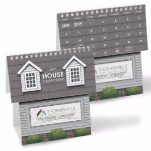 House Shaped Desktop Calendar