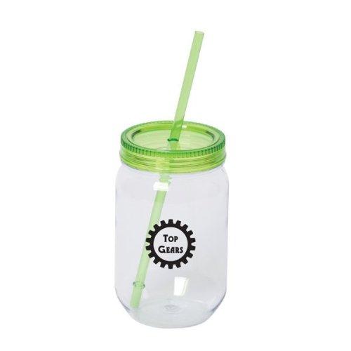 mason jar tumbler - green