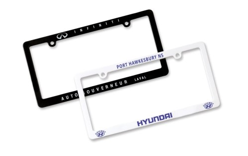 economical license plate frames