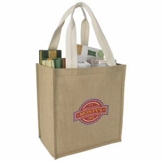Custom Jute Grocery Tote Bag