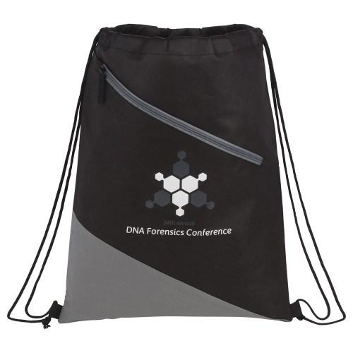 Slanted Non-Woven Drawstring Bag