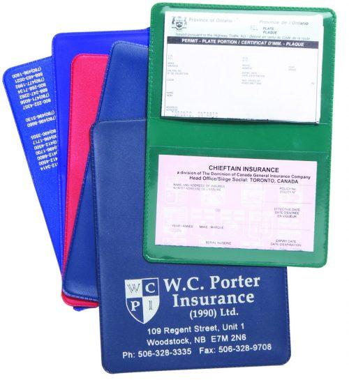Double Pocket Custom Insurance Card Holder