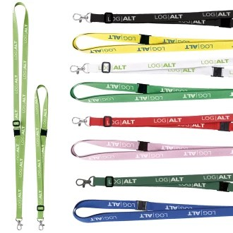Adjustable Polyester Custom Lanyard - 5/8""