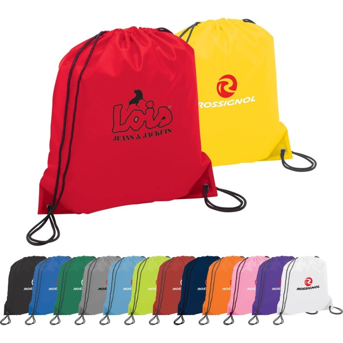 Custom Drawstring Bag w/ Reinforced Corners