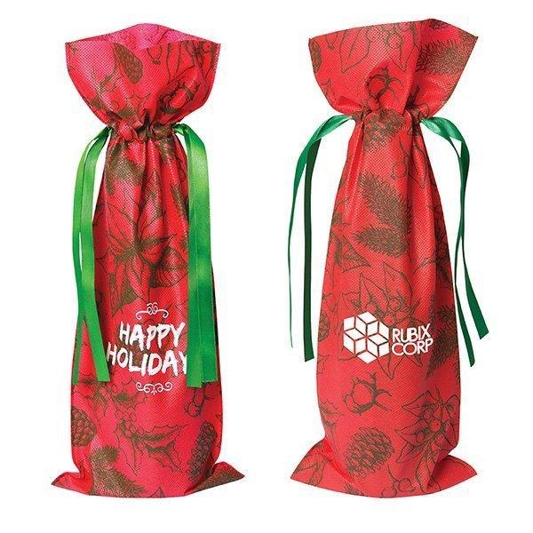 Holiday Non Woven Wine Bag