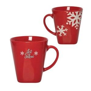 Winter Snowflake Custom Mug – 12 oz