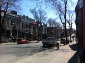 A stroll down rue St. Denis on my way to Éditions Hurtubise.