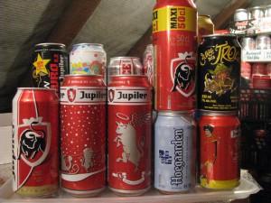 Varios Belgium Beer cans