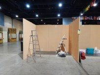 The very empty Canada booth...