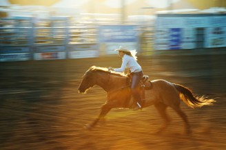 Shooting into the sun: Billy Barker Days Rodeo