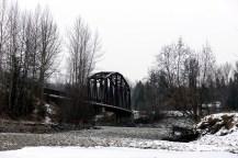 Rail bridge in all its stark beauty.