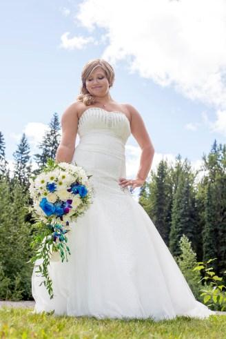 Colourful bride