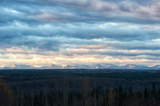 The Rockies at dawn (Outside Edson, Alberta)
