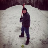 Always up for a challenge, Caleb was happy to practice softball with me in the dead of winter!