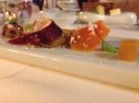 Foie gras with cauliflower and pumpkin