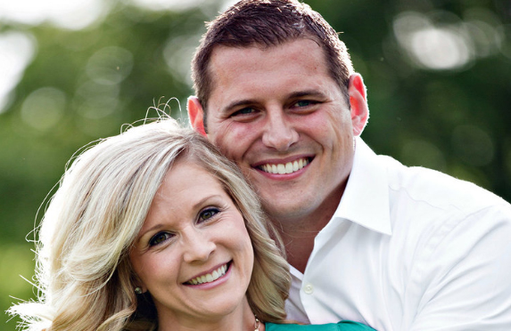Sarah & Andy Swafford Smiling Portrait.