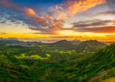 beautiful valley seen from Pali lookout