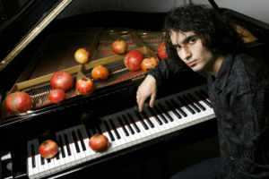 Jazz pianist/composer Tigran Hamasyan, a huge influence on Belio (the pomegranates are the secret to his super-human skills)