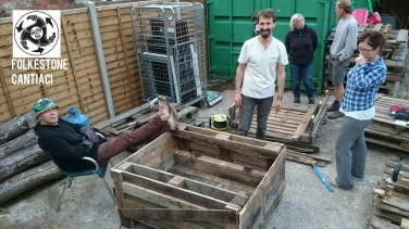 Folkestone, Cantiaci, Folkestone Cantiaci, Community, Transition Town, Space Gallery, Pallets, Planters, Compost, DIY