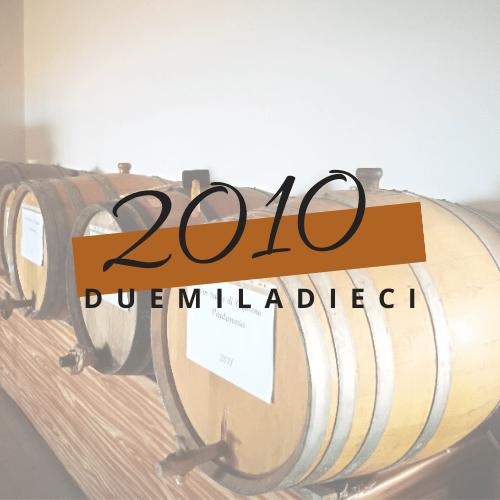 annate del Vin Santo di Vigoleno - annata 2010