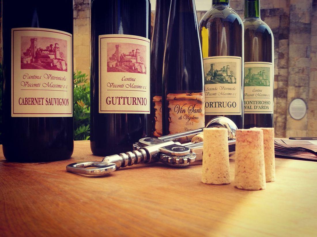 Vini bianchi e rossi di Cantina Visconti Vigoleno