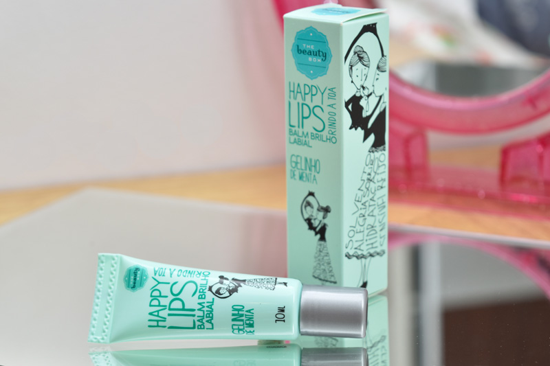 The Beauty Box - Balm Brilho Labial Happy Lips - Gelinho de Menta by Cantinho da Tarsi