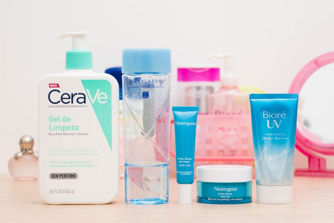 Os produtos da minha rotina matinal de beleza