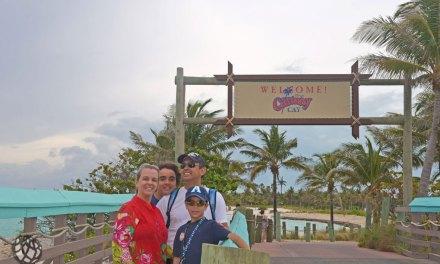 Parada em Castaway Cay durante o Disney Dream