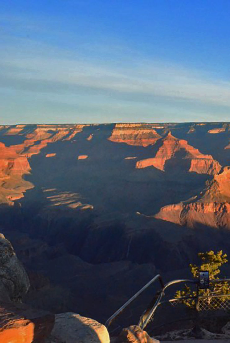 Vista do nascer do sol no Grand Canyon
