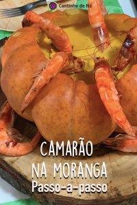 Receita de camarão na moranga