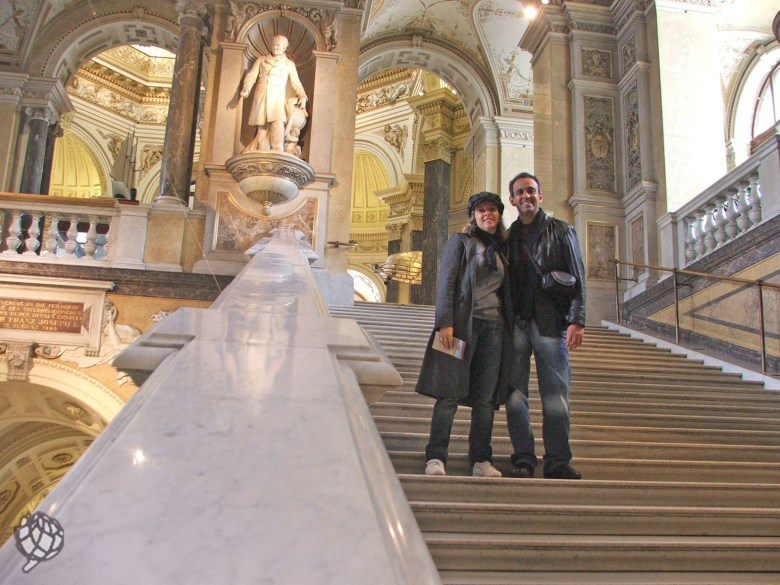 museu viena eu e pipo escada
