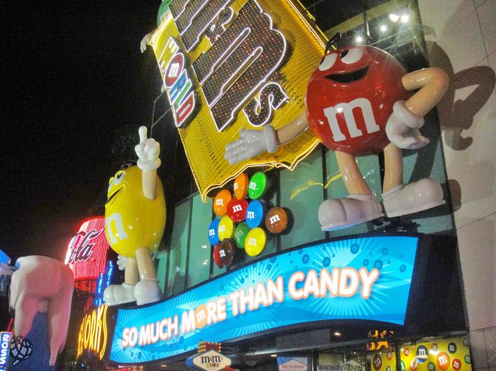 M&Ms store Las Vegas fachada