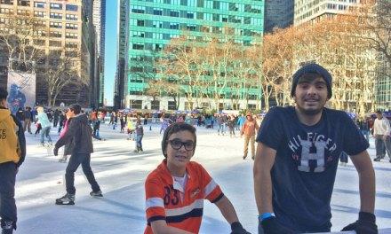 Pista de patinação do Bryant Park em New York