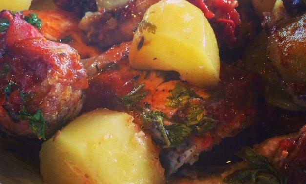 Receita de frango à moda camponesa italiana