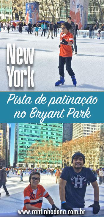 Como é pista de patinação no Bryant Parl em New York