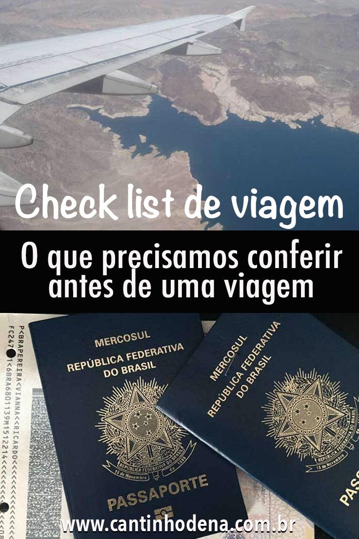 Check list antes de viajar