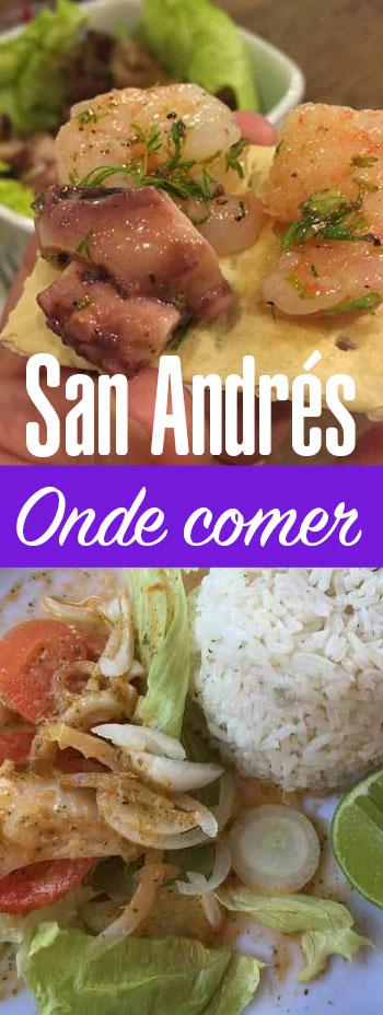 Lista de lugares onde comer em San Andrés