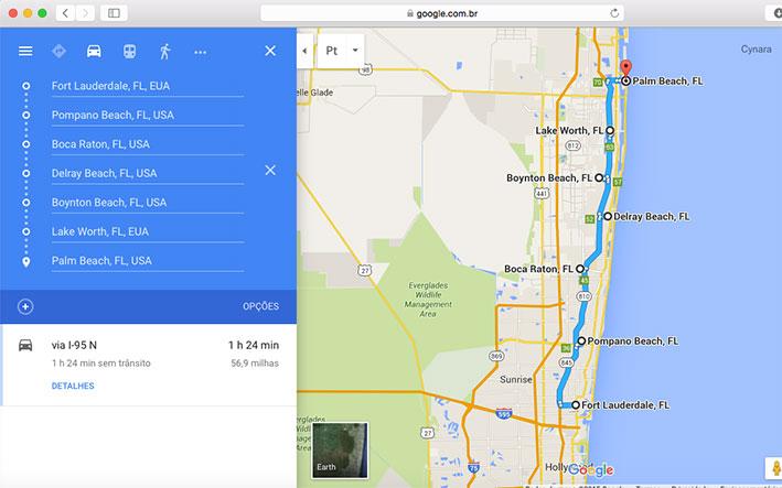 viagem para Fort Lauderdale mapa