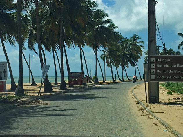 Estrada em Japaratinga
