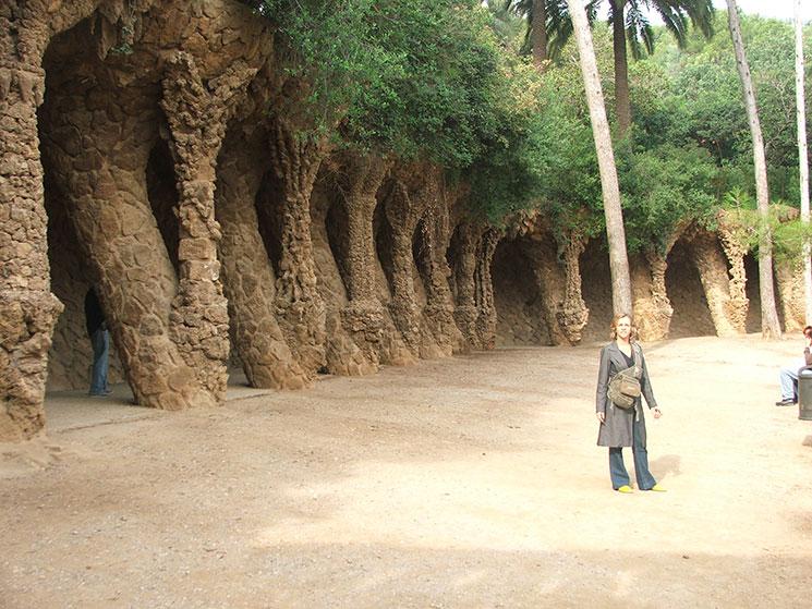 O lindo Parque Güell em Barcelona