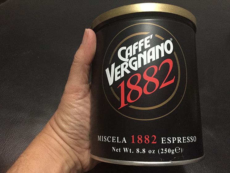 Café Vergnano comprado no Eataly em New York