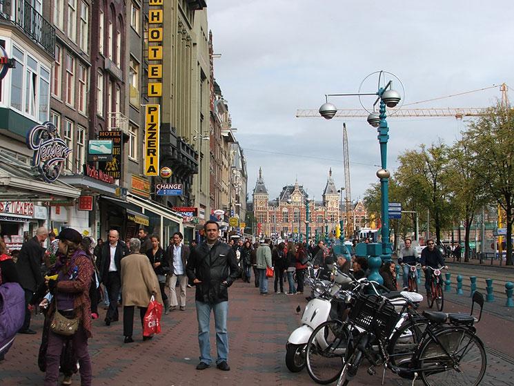 Damrak em Amsterdam