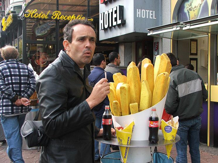 As famosas batatas fritas de Amsterdam