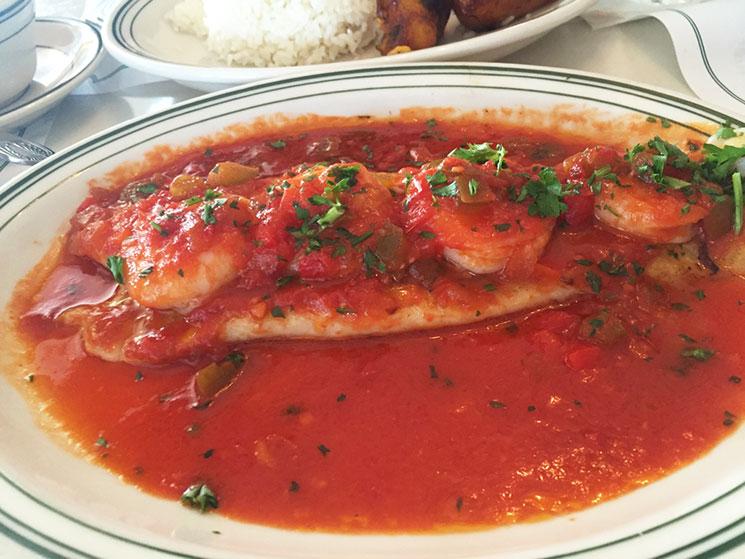 Peixe do Restaurante Versailles na Little Havana em Miami