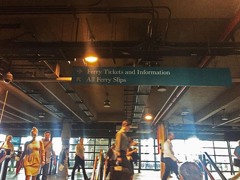 Porto de embarque de ferry em Hoboken