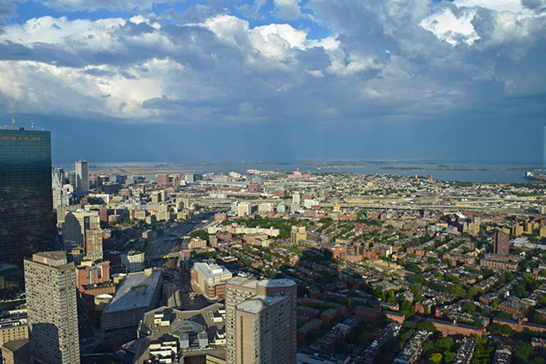 Boston vista do Skywalk Observatory