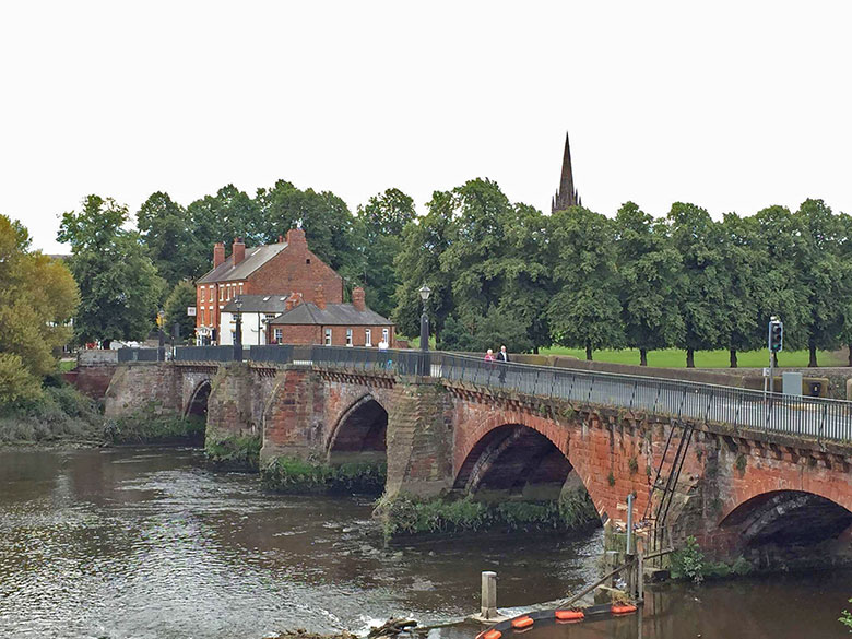 Muralhas de Chester no interior da Inglaterra