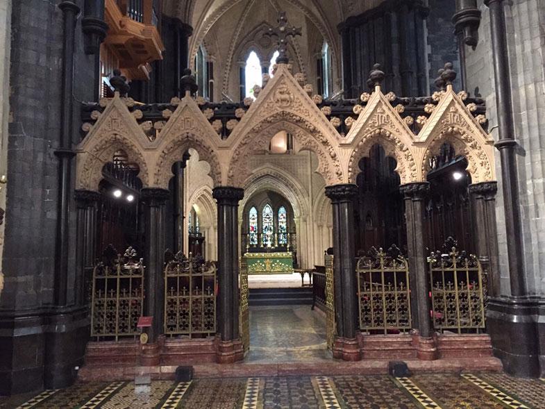Detalhes da Catedral de Dublin